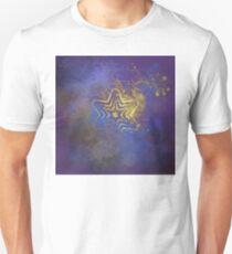 Gold star with purple  mandala Unisex T-Shirt