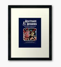 Doctors & Daleks Framed Print