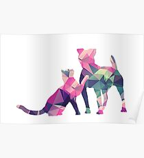 Moggy and Pooch #1. Pink&Green. Take your best friend everywhere. Poster