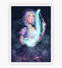 Moon Witch Transparent Sticker
