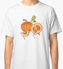 Pumpkin night life pattern Classic T-Shirt