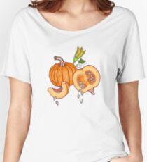 Pumpkin night life pattern Women's Relaxed Fit T-Shirt
