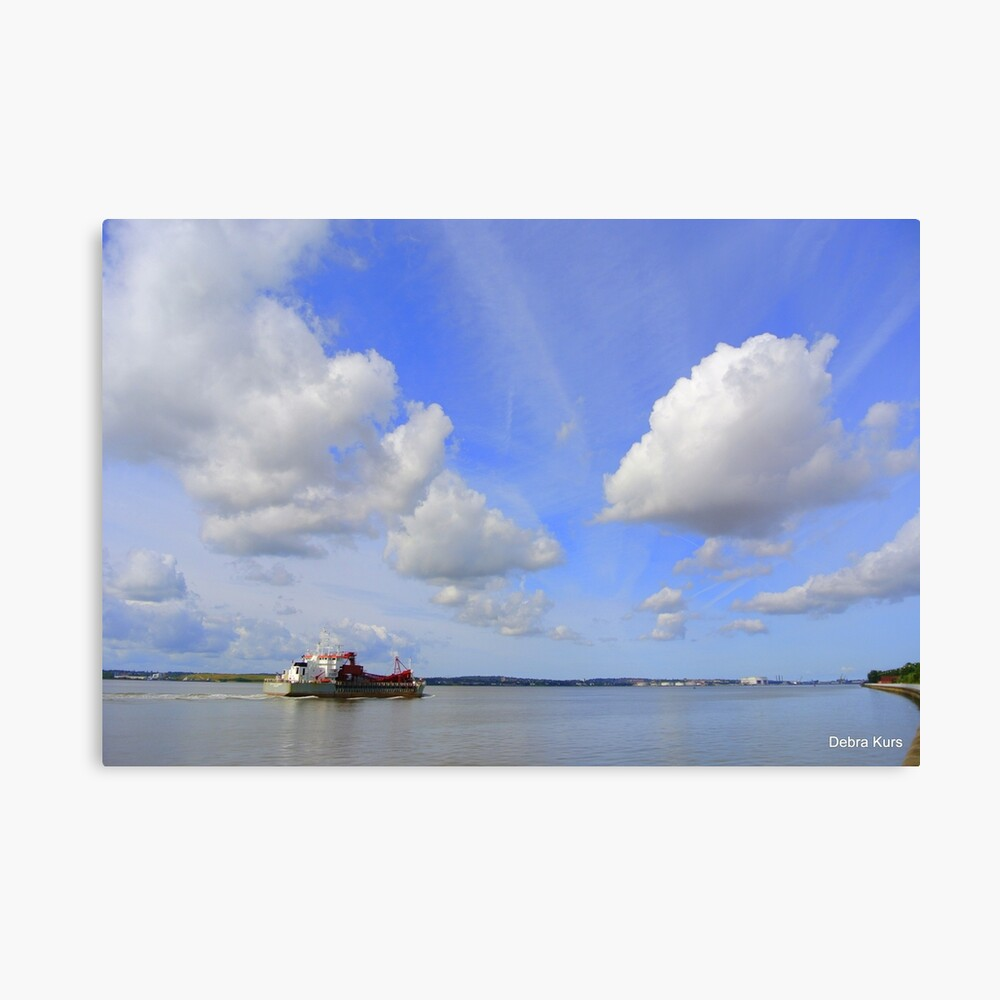 Blue Skies on the River Mersey Canvas Print