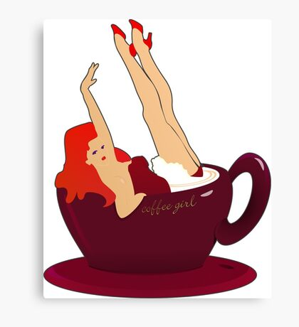 Coffee Girl VRS2 Canvas Print
