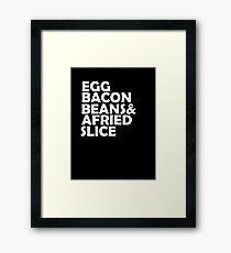 Egg Bacon beans Framed Print