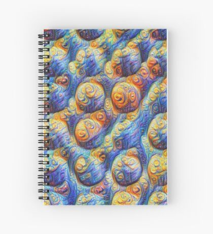 Clouds #DeepDream Spiral Notebook