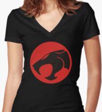 THUNDERCAT Women's Fitted V-Neck T-Shirt