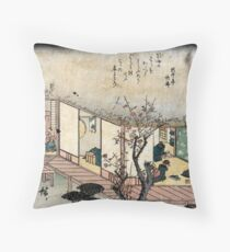 Ishibe - Hiroshige Ando - 1840 Throw Pillow