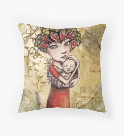 Mothers Crown Throw Pillow