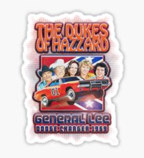 The Dukes Of General Hazzard Lee Dodge Sticker