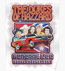 The Dukes Of Hazzard General Lee Dodge Poster