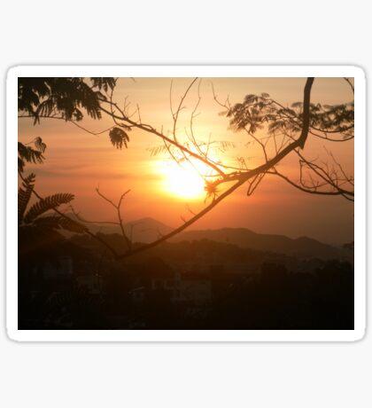 Sunset in Santa Teresa, Rio de Janeiro Sticker