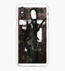 Abstract Slender Man iPhone Case/Skin