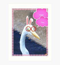 Easter egret Art Print