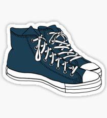Tardis Blue Converse Sticker