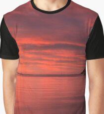 Crimson Dawn Graphic T-Shirt