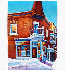 VERDUN DEPANNEUR 7 JOURS WINTER PAINTINGS Poster