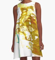 20160929 orange blue oblivion no. 8 A-Line Dress