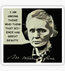 Marie Curie Quote Sticker