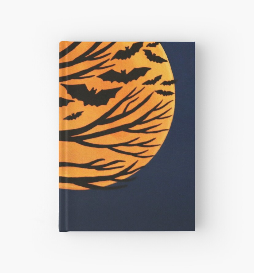 'Spooky Bat Tree' Hardcover Journal