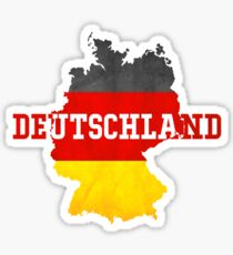 Vintage Classic Deutschland Country With Germany Flag Sticker