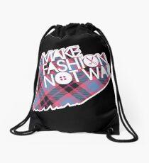 MAKE FASHION NOT WAR Drawstring Bag