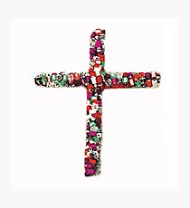 Colorful Cross of Faith Photographic Print