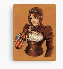 Steampunk Victoria Canvas Print