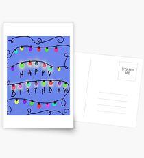 stranger birthday Postcards