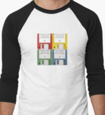 Leisure Suit Larry on 4 floppy discs Men's Baseball ¾ T-Shirt