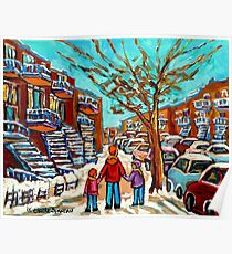 VERDUN WINTER WALK PAINTING Poster