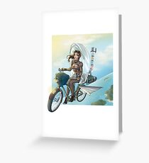 steampunk Victoria Bicicle's Greeting Card