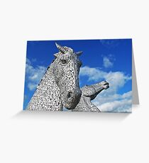 The Kelpies - Scotland's Roadside Art Greeting Card