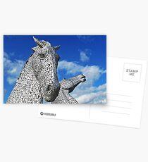 The Kelpies - Scotland's Roadside Art Postcards
