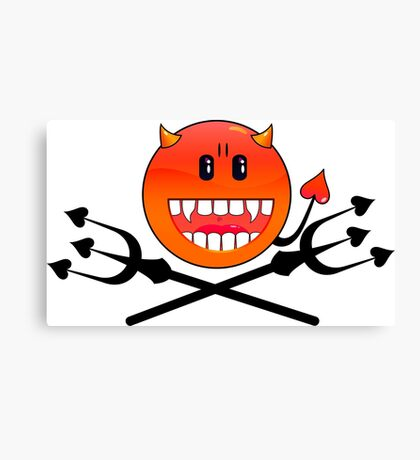 Devil Smiley VRS2 Canvas Print