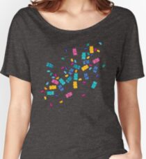 Sweet Jelly Beans & Gummy Bears Pattern Women's Relaxed Fit T-Shirt