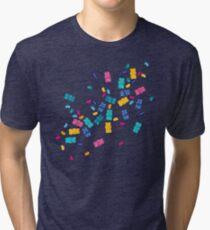 Sweet Jelly Beans & Gummy Bears Pattern Tri-blend T-Shirt