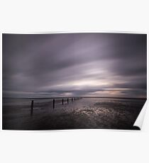 Stormy Beach Poster