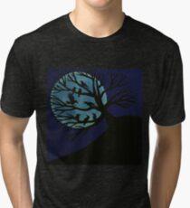 Spooky Raven Tree Tri-blend T-Shirt