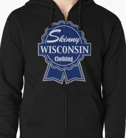 Wisconsin Skinny Blue Badge of Honor T-Shirt