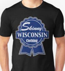 Wisconsin Skinny Blue Badge of Honor Unisex T-Shirt