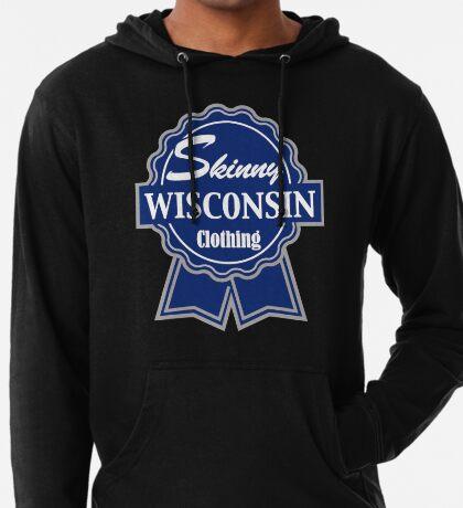 Wisconsin Skinny Blue Badge of Honor Lightweight Hoodie