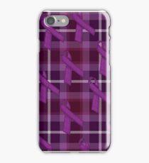 Purple Awareness Ribbon iPhone Case/Skin