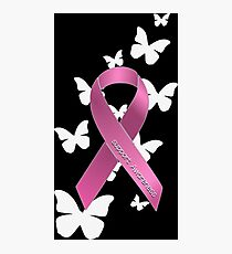Pink Ribbon Support Breast Cancer Awareness Photographic Print