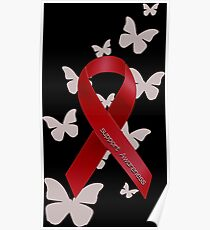Support Red Ribbon Awareness Poster