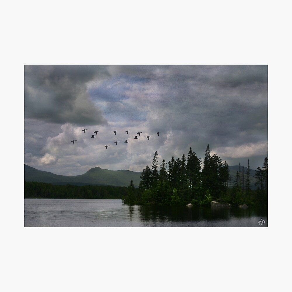 Painted Sky Over Jericho Lake Photographic Print