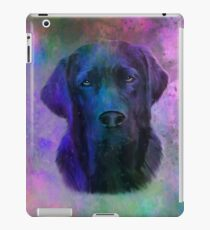 Black Labrador Dog Water Colorful Art Painting iPad Case/Skin