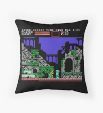 Castlevania 3 Throw Pillow