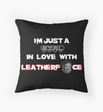 Leatherface - LOVE Throw Pillow