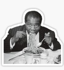 Louis Armstrong Eating Spaghetti Sticker